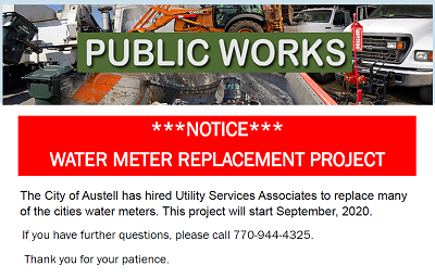 Notice: Water Meter Replacement Project